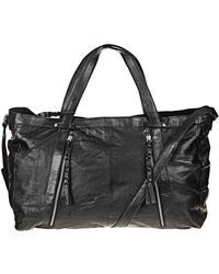 Pieces - Leather Bag - Lyst