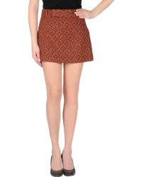 Miu Miu O Mini Skirt - Lyst