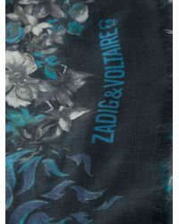 Zadig & Voltaire Floral Print Scarf - Lyst