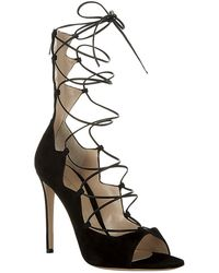Gianvito Rossi Frantic Suede Lace-up Sandal - Lyst