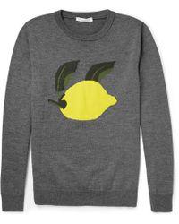 JW Anderson - Lemon-Intarsia Wool Sweater - Lyst