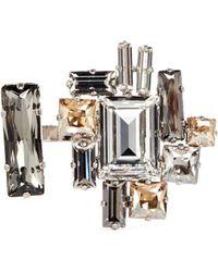 Atelier Swarovski - 'manhattan' Large Swarovski Crystal Open Ring - Lyst