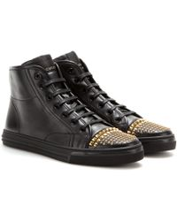 Gucci California Leather Hightop Sneakers - Lyst