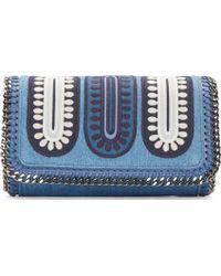Stella McCartney Blue Denim Patchwork Falabella Bag - Lyst