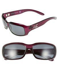 Kaenon | 'bolsa' 55mm Polarized Sunglasses - Eggplant | Lyst