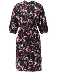 Saloni Jessabel Cloudbreak-Print Shirt-Dress - Lyst