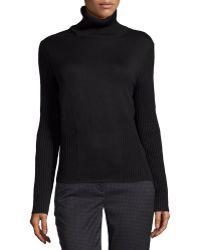 Carolina Herrera Ribbed-Knit Wool Turtleneck Sweater - Lyst