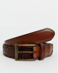 Racing Green - Plaited Leather Belt - Lyst