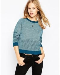 Le Mont St Michel - Merino Wool Sweater In Jacquard - Lyst