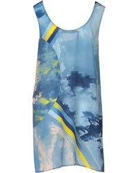 Versace Blue Short Dress - Lyst