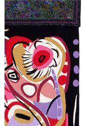 Ibrigu - One Of A Kind Patchwork Abstract Silk Foulard Scarf - Lyst