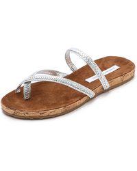Diane von Furstenberg Adelia Flat Sandals - Gold - Lyst