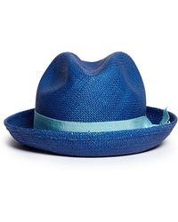 Toquilla Straw Panama Hat - Blue Sensi Studio Ko8Hc