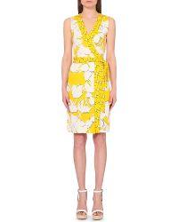 Diane von Furstenberg Yahzi Floral-Print Silk Wrap Summer Dress - For Women - Lyst