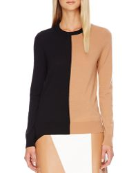 Michael Kors Colorblock Wool Sweater - Lyst