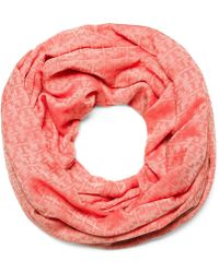 Tory Burch Stacked-'T' Jacquard Infinity Scarf - Lyst