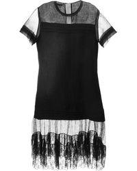 Rochas Panelled Lace Dress - Lyst