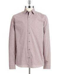 Michael Kors Checkered Sport Shirt - Lyst