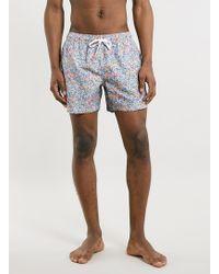 Topman Burgundy Ditsy Floral Swim Shorts - Lyst