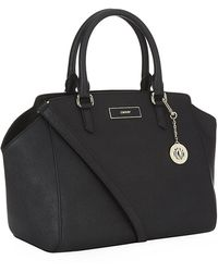 DKNY Large Saffiano Eastwest Tote with Strap - Lyst
