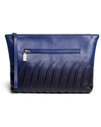Alexander McQueen | Spinal Cord Gradient Leather Zip Pouch | Lyst