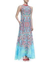 Alexis Regi Aztec-Print Georgette Maxi Dress - Lyst