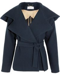 Chloé Hooded Brushed-wool Coat - Lyst