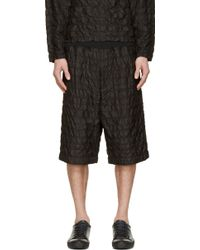 3.1 Phillip Lim Black Tapered Knit Waistband Shorts - Lyst