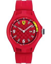 Scuderia Ferrari - Men'S Pit Crew Red Silicone Strap 44Mm 830007 - Lyst