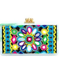 Edie Parker Jean Embroidered Box Clutch - Lyst
