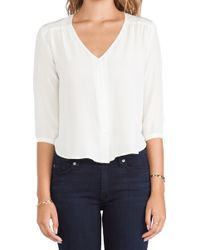 Amour Vert White Candice Blouse - Lyst