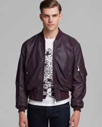 McQ by Alexander McQueen Harrington Leather Jacket - Lyst