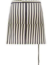 Peter Som - Geometric Stripe Apron Wrap Skirt - Lyst