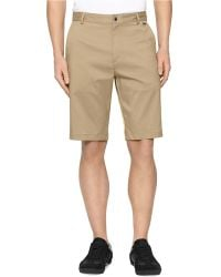 Calvin Klein Core Flat Front Stretch Twill Short - Lyst