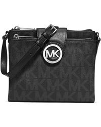 MICHAEL Michael Kors Fulton Signature Monogram Large Crossbody Bag - Lyst