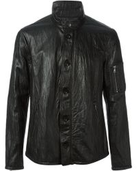 John Varvatos Distressed Buttoned Jacket - Lyst