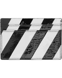 Raf Simons - Black And Green Striped Patent Card Holder - Lyst