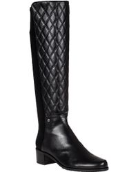 Stuart Weitzman Guard Tall Boot Black Leather - Lyst