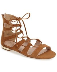Topshop Lace-Up Gladiator Sandal brown - Lyst