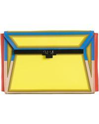 Issey Miyake Wrist Strap Envelope Clutch multicolor - Lyst