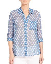 Diane von Furstenberg | Lorelei Two Silk Shirt | Lyst