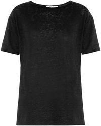 T By Alexander Wang Linen and Silk-blend T-shirt - Lyst