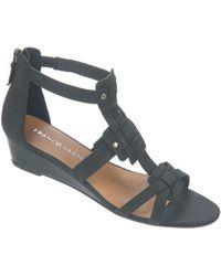 Franco Sarto Ulysses Nubuck Leather Wedge Sandals - Lyst