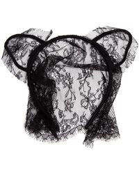 Maison Michel Lace Cat Ear Headband - Lyst