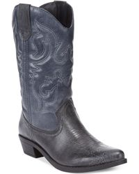 Rampage Valiant Cowboy Boots - Lyst