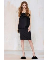 Nasty Gal Cameo Serendipity Layered Dress black - Lyst