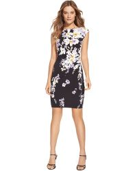 Lauren by Ralph Lauren Petite Floral Jersey Dress - Lyst