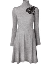 Lanvin Turtle Neck Dress - Lyst
