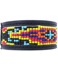 Will Leather Goods - Beaded Cuff Bracelet - Lyst