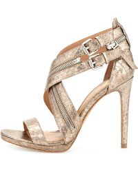 Vince Camuto Signature - Shalona Snake Print Ankle-wrap Pump - Lyst